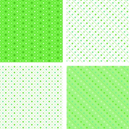 Seamless pattern pois green Vector