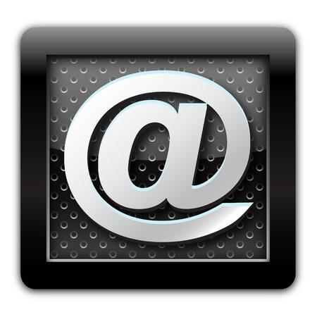 Address metallic icon Stock Photo - 10791965