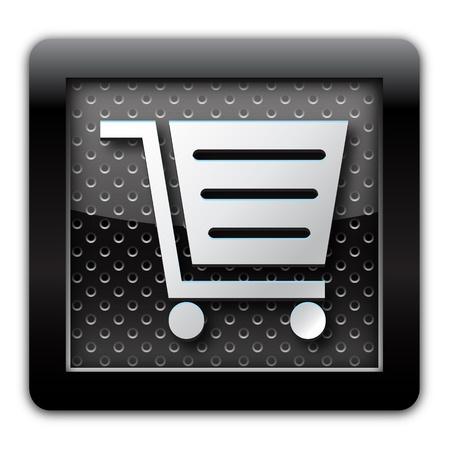 E-commerce metal icon Stock Photo - 10791969
