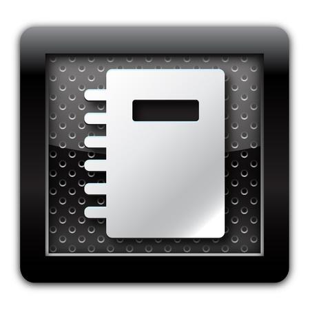 adress book: Address book metal icon Stock Photo