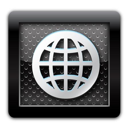 groupware: Metal World icono Foto de archivo