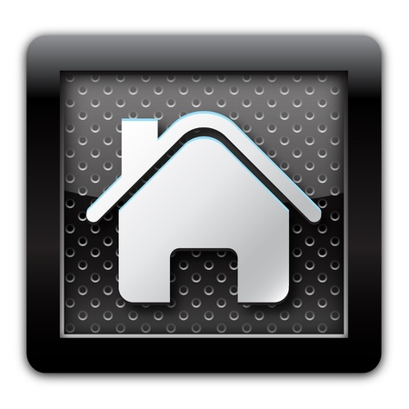 Home metal icon photo