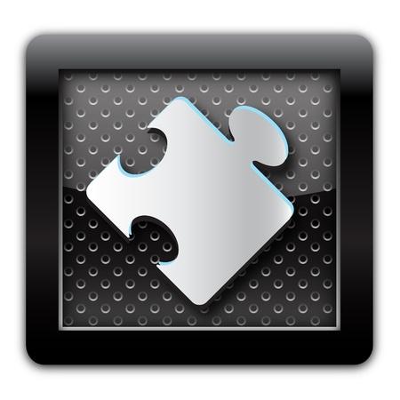 Plugin metal icon photo