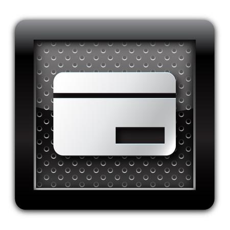 Credit card metal icon Stock Photo - 10889339