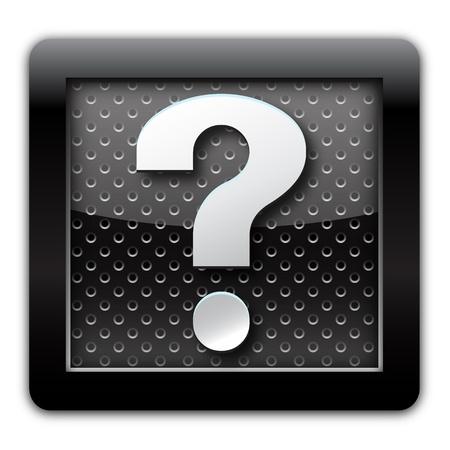 enquiry: Help metal icon Stock Photo