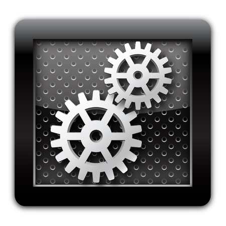 circuitry: Gear metal icon