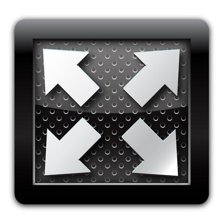 Extend arrow metal icon Stock Photo - 10892421