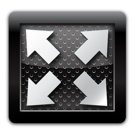 Extend: Extend arrow metal icon