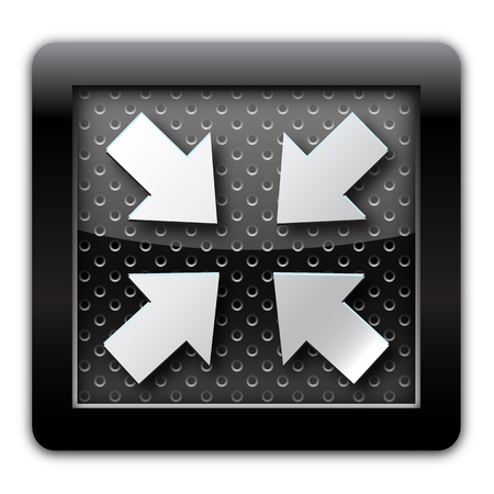 reduced: Reduced arrow metal icon