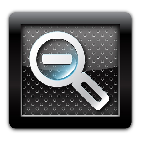Zoom out metal icon Stock Photo - 10892429