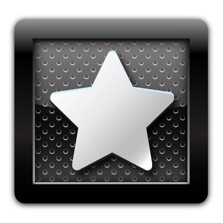 favourites: Favourites metal icon