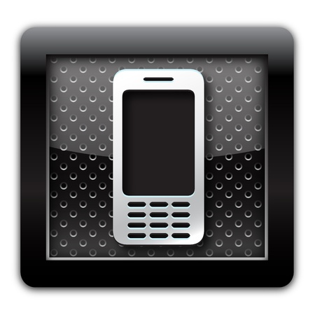 Cellular metallic icon Stock Photo - 11175072