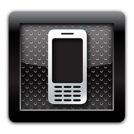 Cellular metallic icon Stock Photo - 11175072