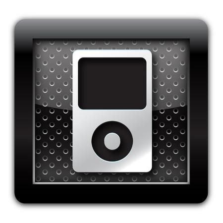 unbutton: Music player icon Stock Photo