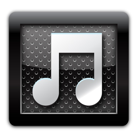 Music metallic icon  photo