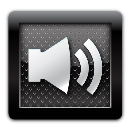cd recorder: Sound on metallic icon  Stock Photo