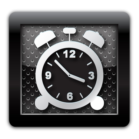 Alarm clock metallic icon  Stock Photo - 11666745