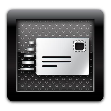 e marketing: E-mail send metallic icon
