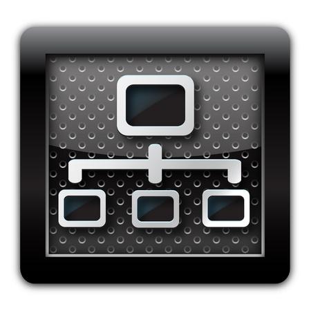 Network metal icon  photo