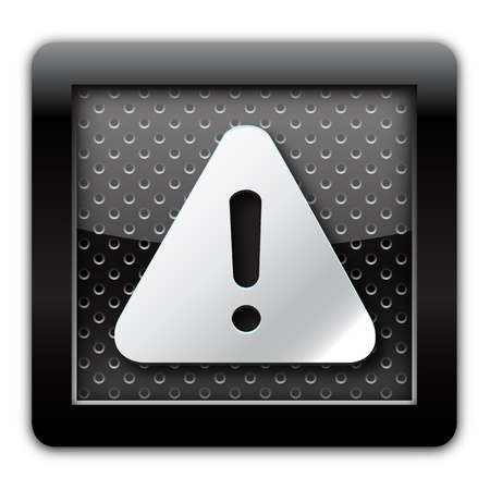 Warning metal icon  photo