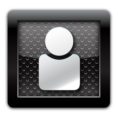 groupware: Usuario de metal icono