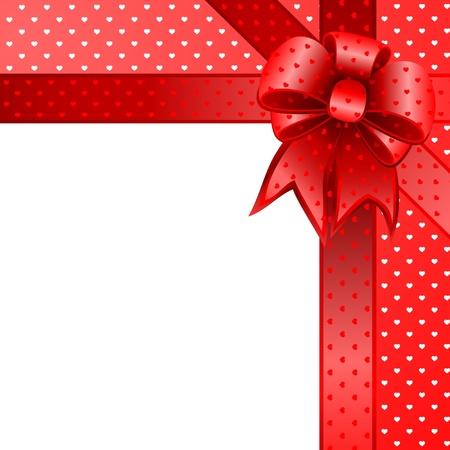 빨간색 선물 나비 카드 참고