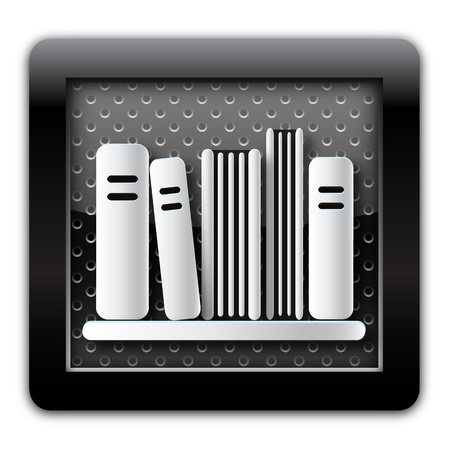 Library metal icon