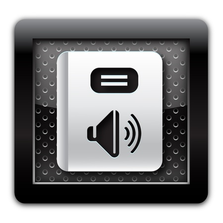 Audiobook metal icon  photo