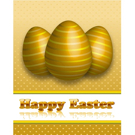 Happy Easter Greetind Card Vector