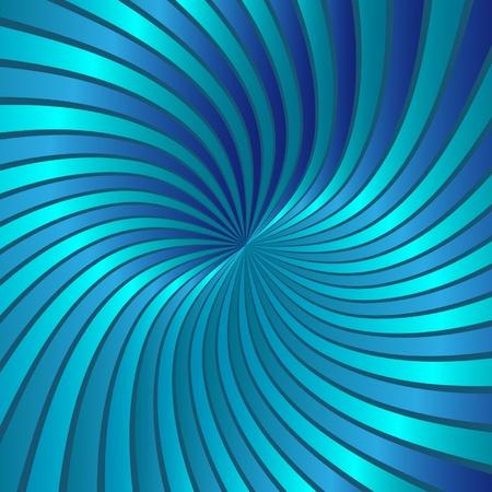 hypnose: Blue spiral vortex vector  Illustration