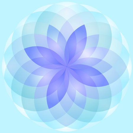 Background abstract lotus flower vector Vector