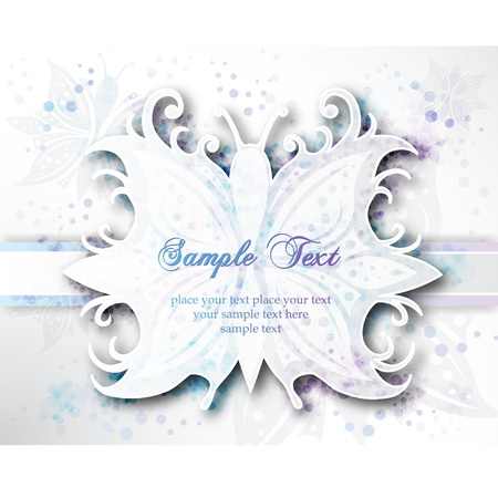 Elegant Banner Abstract Butterfly Vector