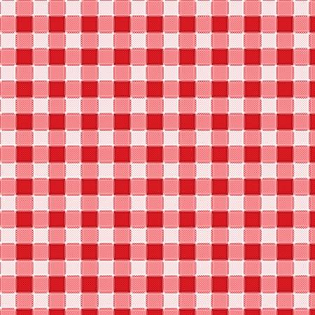 Pattern picnic tablecloth vector Vector