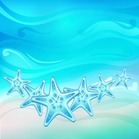 starfish on beach: Starfish on the beach vector