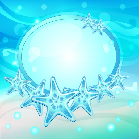Starfish on the beach vector Vector