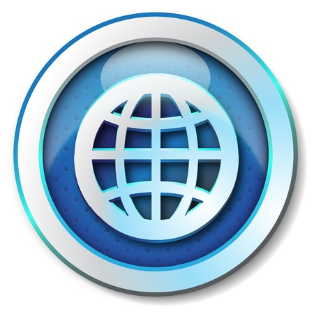 World web icon Stock Photo - 13830082