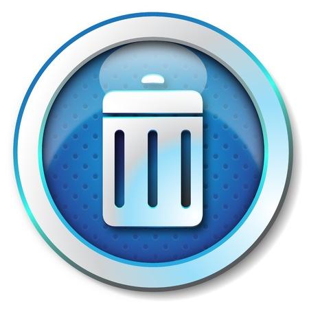 basura organica: Eliminar el icono Foto de archivo
