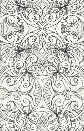 zentangle: Drawing floral abstract background