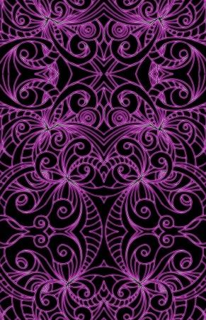 Drawing floral abstract background photo