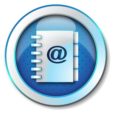 adress: Carnet d'adresses e-mail icon