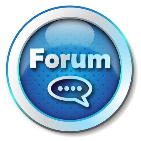groupware: Foro icono Foto de archivo