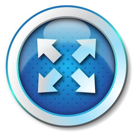 porgere: Estendere freccia icona