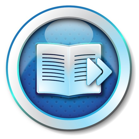 e commerce icon: E-book browse forward icon