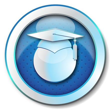 thesis: Graduation icon  Stock Photo