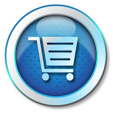 emergency cart: Shopping cart icon  Stock Photo