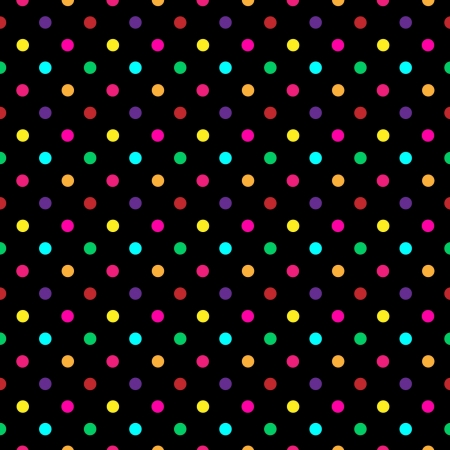 chequered drapery: Colorful Polka Dot Pattern  Illustration