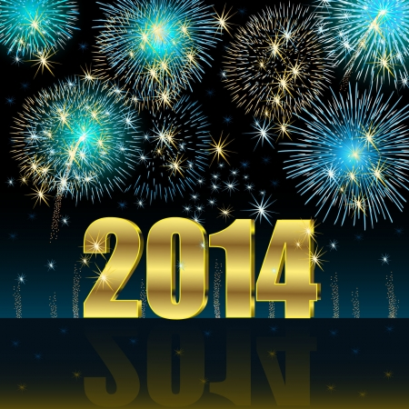 frohes neues jahr: Frohes Neues Jahr 2014 Illustration