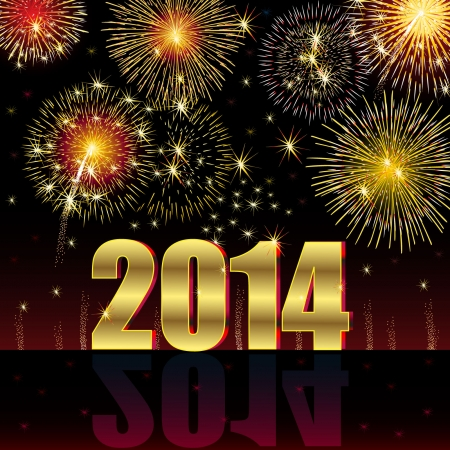 2014 새해 복 많이 받으세요 일러스트