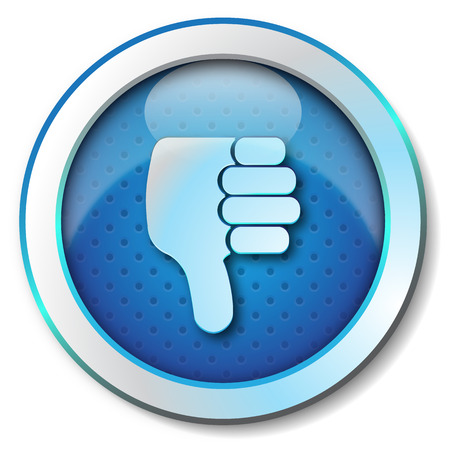 disapproval: Thumb Down Icon Stock Photo