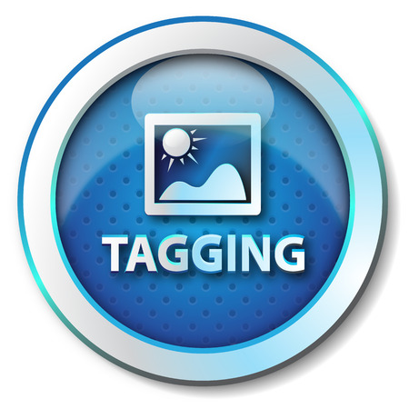 Tagging icon photo